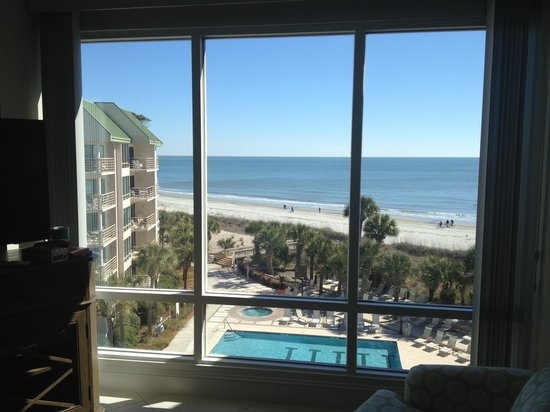 Villamare Villas Resort at Palmetto Dunes:                   View from unit 3524