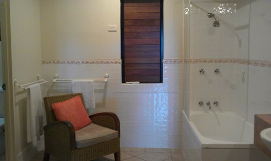 Hibiscus Resort & Spa:                   Into bathroom from kitchenette