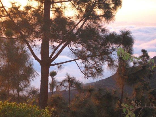 Hotel Rural Las Tirajanas:                                     Coucher de soleil vue de la chambre