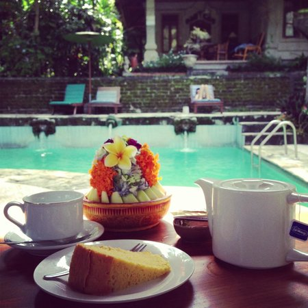 Kebun Indah:                   Tea time by the pool