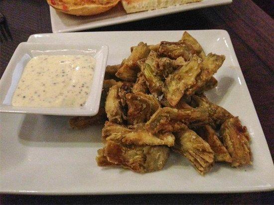 Pinotage Restaurante and Cafe: Alcachofas fritas