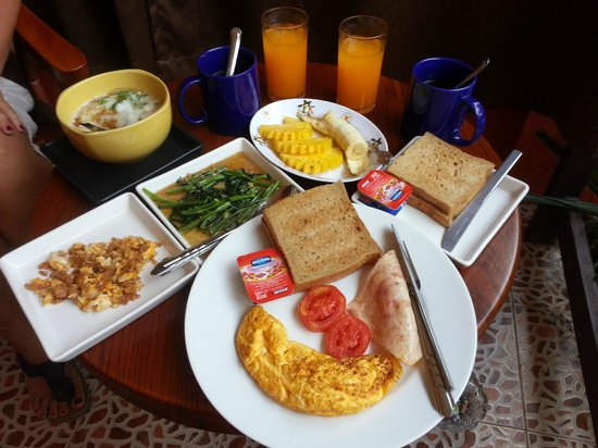 Kantiang Oasis Resort & Spa:                   Many choises for breakfast