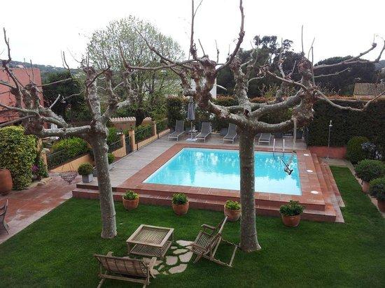 Hotel Mas de Baix:                   Vista desde la habitación Sevilla