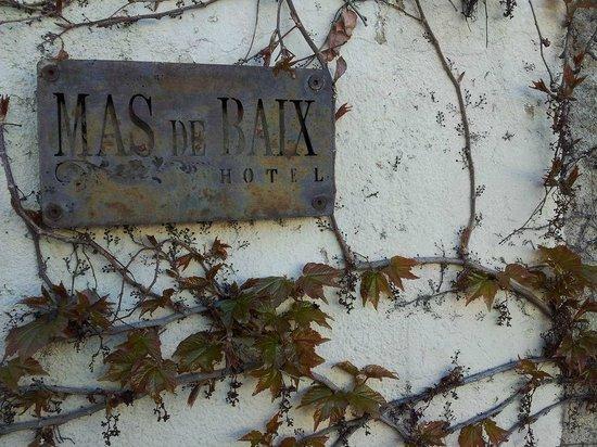 Hotel Mas de Baix:                   Entrada al hotel