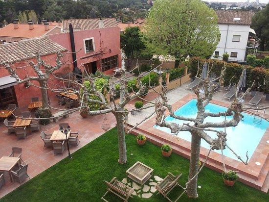 Hotel Mas de Baix:                   Vista desde la terraza