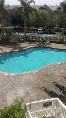 Hampton Inn Orlando/Lake Buena Vista:                   Pool side view