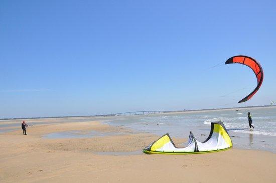 Noirmoutier Kite :                                     decollage aile de kite fromentine
