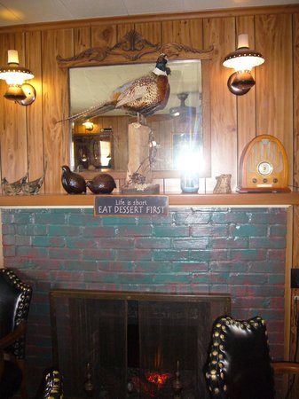 Red Wing Restaurant:                   Fireplace in left dining room