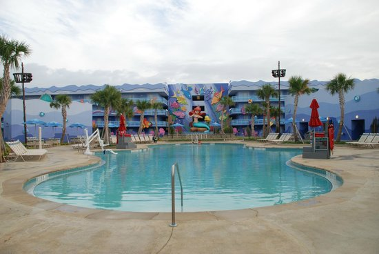 Disney's Art of Animation Resort:                   Pool area near Ariel building