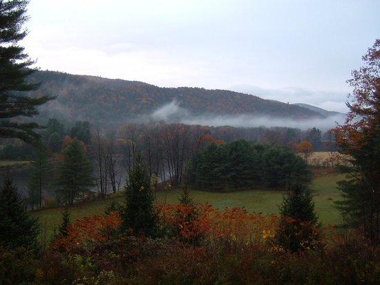 Breakfast on the Connecticut: Early morning view from the Inn