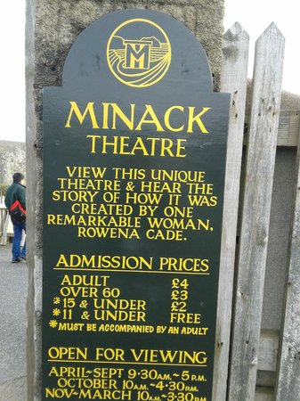 Signage of Minack Theatre