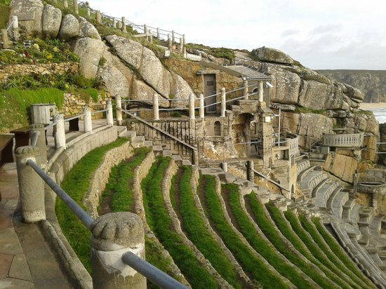 Minack Theatre:                   Seats at the open theatre