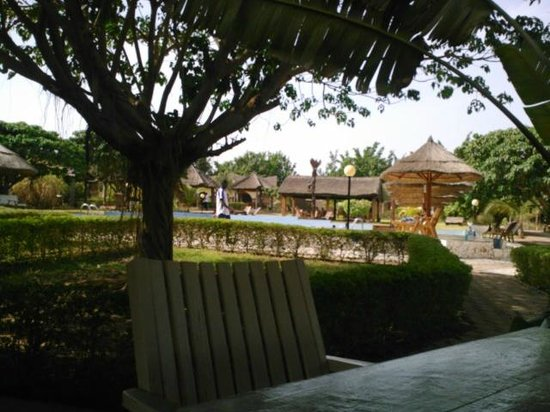 Cascades Palace :                   view of pool/eating area