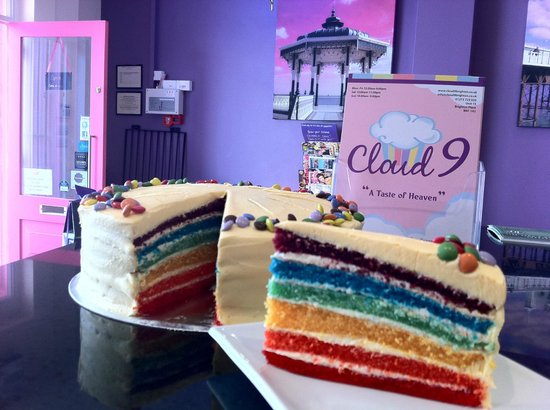cloud 9 wedding cake brighton rainbow cake 163 3 00 a slice anyone picture of cloud 9 12887