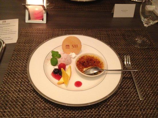 Kobe Beef Kaiseki 511:                   Dessert
