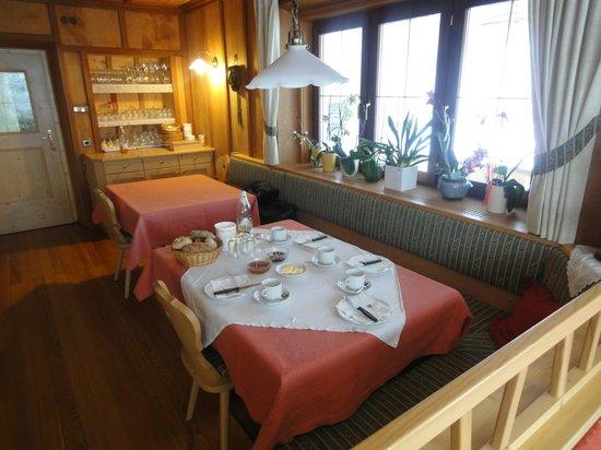 Bacherhof: Il nostro tavolo per la colazione