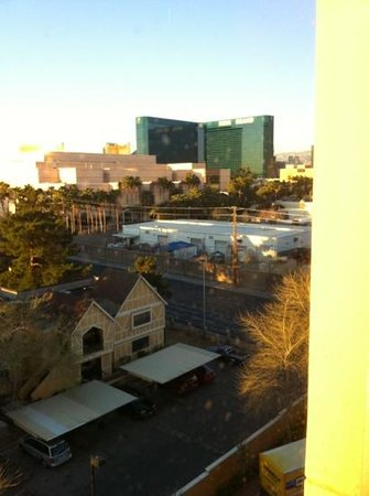 Wyndham Grand Desert :                                     view from room. MGM grand, Mandalay bay