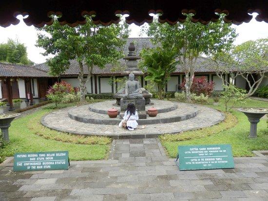 Museum Karmawibangga:                   The unfinished Buddha meant for the top of Borobudur