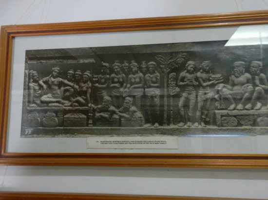 Museum Karmawibangga:                   An old photo of one of the friezes, now no longer visible
