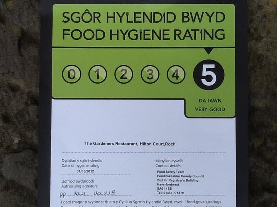 Gardeners Restaurant: Top rated for food hygiene