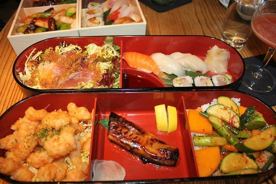 yummy bento boxes picture of nobu berkeley street london tripadvisor. Black Bedroom Furniture Sets. Home Design Ideas
