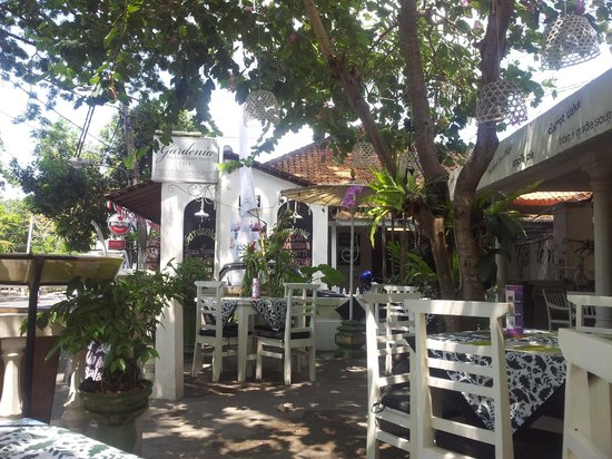 Gardenia Guesthouse:                   Cafe in front of guesthouse
