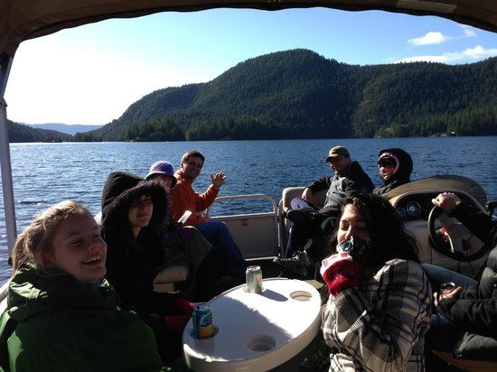 Sakinaw Lake Lodge:                   On the boat tour - March 03rd, lovely day!                 