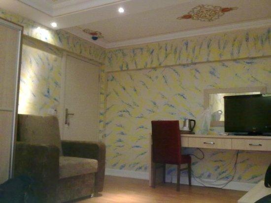 Hatay Hotel: splendide decorazioni su pareti e soffitto della camera