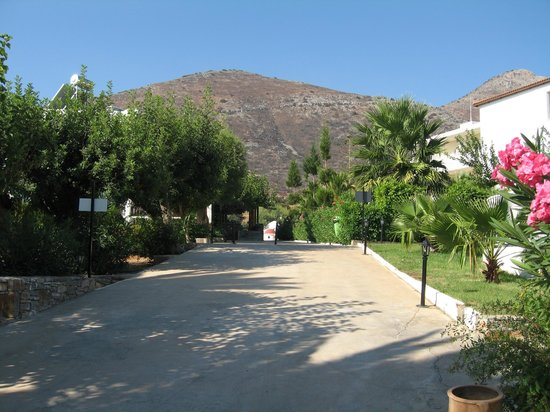 Elounda Breeze Resort :                   Une des allées de l'hotel