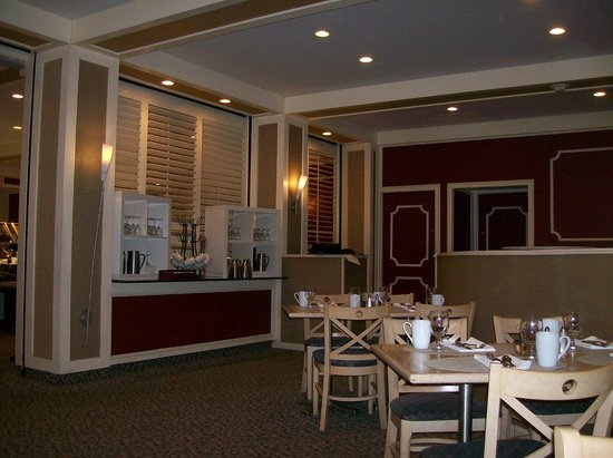 Hilton Woodcliff Lake: Restaurant, Saffron in Hotel Lobby