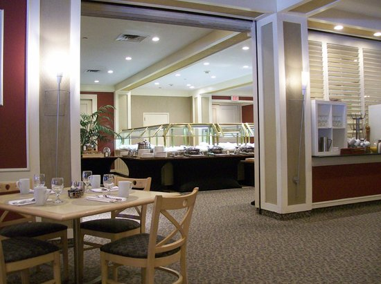 Hilton Woodcliff Lake: Restaurant, Saffron, here is the Buffet Area