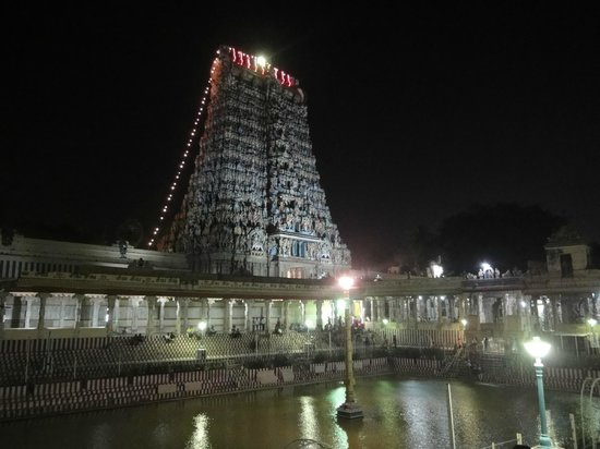 Sri Meenakhsi-templet:                   Sri Meenakshi Temple Gopuram