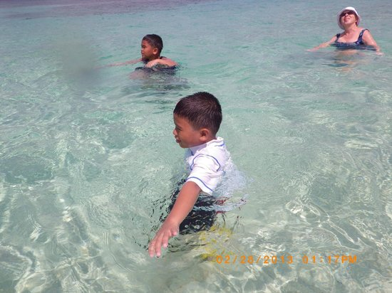 Canigao Island:                   My kids really and family enjoys the blue ocean