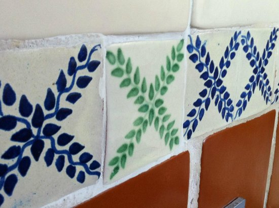 Hotel Belmar:                   These beautiful tiles were everywhere in this hotel!
