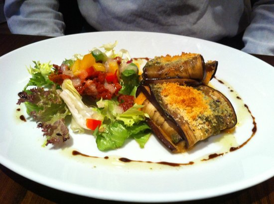 Almond Restaurant & Bar:                   The amazing aubergine starter.