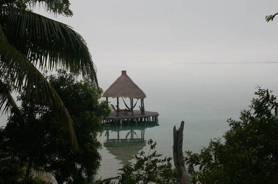 Pehaltun Villas:                   Morning view of the dock from the Casita