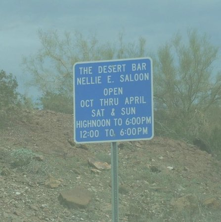 Desert Bar and Nellie E Saloon: Hours and Info