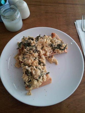 Cafe Siam Breakfast Cafe:                   Spinach Eggs yummy
