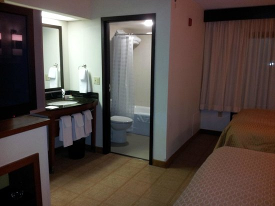 Hyatt Place Charlotte Airport/Tyvola Road: View into the bathroom