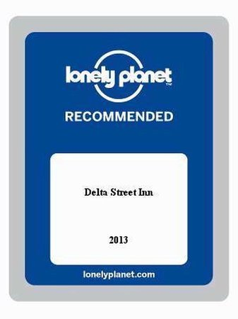 Delta Street Inn: Lonely Planet award