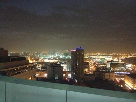 Lexington Gloria Hotel Doha:                   night sky from my room