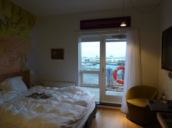 Icelandair Hotel Reykjavik Marina:                   Room 420 - attic room with harbour view and balcony