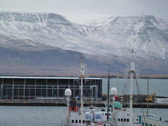 Icelandair Hotel Reykjavik Marina :                   View of mountains from balcony