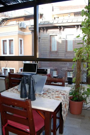 Hotel Sebnem:                   roof top bar and cafe