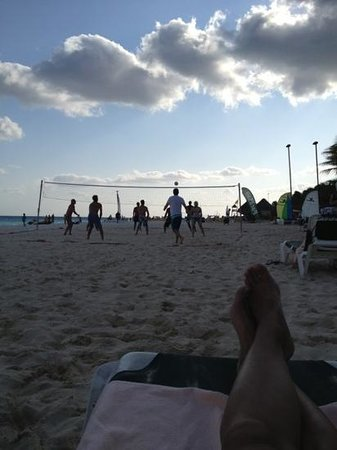 volleyball on the beach!