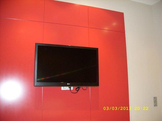 Olivia Plaza Hotel: красная стена