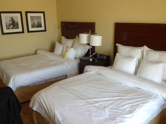Raleigh Marriott City Center: Comfortable beds!