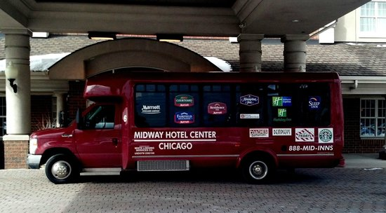 Marriott Chicago Midway :                   Shuttle bus to Midway