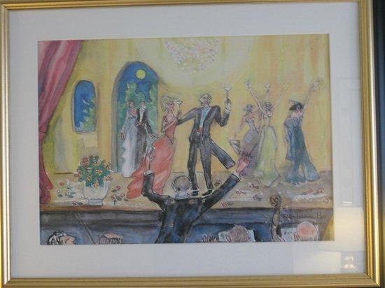 """Thon Hotel Opera:                   """"Opera"""" an der Wand"""