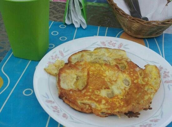 Taganga Dive Inn:                   Así es el desayuno.